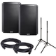 Alto TS215W Wireless Powered Speakers (2) with Stands & Cables