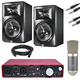 Studio Bundle with Focusrite Scarlett 2i4 and JBL LSR308