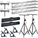 Global Truss ST-132 Stands with F24 10-Foot Truss plus Bags & Clamps