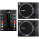 Mixars DUO DJ Mixer for Serato with Pair of LTA Turnrables