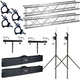 Global Truss ST-90 Stands plus 13-Foot F24 Truss with Bags & Clamps