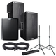 Alto TS215 (2) & TS218S Powered Speakers Bundle wtih Gator Stands