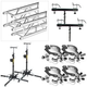 Global Truss ST-157 Crank Stands with 13 Feet of F34 Truss and Clamps