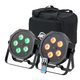 ADJ American DJ Mega 64 HEX Pack 2x Lights & Case