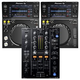 Pioneer DJM-450 2-Channel DJ Mixer & (2) XDJ-700 Multi Players