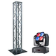 ADJ American DJ Inno Pocket Wash LED Moving Head Light & 6.56 Foot Truss Totem