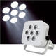 Epsilon Flat-Par 7 7x15-Watt RGBWA LED Light (White)