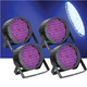 Solena Max Par 20 RGB 20-Watt LED Wash Light 4 Pack