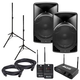 Alto TX15USB Powered Speakers with Stealth Wireless & Stands