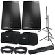 JBL EON615 Powered Speakers Bundle with Gator Stands & Tote Bags