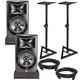 JBL LSR308 Powered Studio Monitors with Stands & Isolation Pads