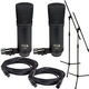 MCA SP-1 Condenser Microphone Stereo Set (2) with Stands & Cables