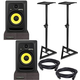 KRK RP6 G3 Powered Studio Monitors with Stands & Isolation Pads