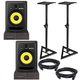 KRK RP8 G3 Powered Studio Monitors with Stands & Isolation Pads