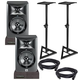 JBL LSR305 Powered Studio Monitors with Stands & Isolation Pads