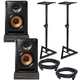 Pioneer BULIT5 Powered Studio Monitors with Stands & Isolation Pads