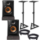 Pioneer BULIT8 Powered Studio Monitors with Stands & Isolation Pads