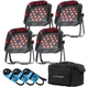 ADJ American DJ Flat Par TRI18XS 4 Pack with Bag
