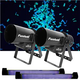 Chauvet Funfetti & 48-Inch Black Light 2 Pack w/ Glow in the Dark Confetti