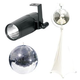 Eliminator 8-Inch Mirror Ball with Stand & LED Pinspot