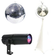 Eliminator 12-Inch Mirror Ball Pack with Stand and RGBW Pinspot