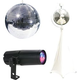 Eliminator 16-Inch Mirror Ball with Stand and RGBW LED Pinspot