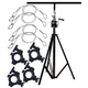 Solena LS-800 Lighting Crank Stand Package with Clamps & Safety Cables