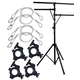 Solena LS-200 Lighting Stand Package with Clamps and Safety Cables