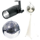 Eliminator 16-Inch Mirror Ball & Stand w/ LED Pinspot Light