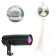 Eliminator 8-Inch Mirror Ball with Stand and RGBW LED Pinspot