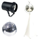 Eliminator 12-Inch Mirror Ball with Stand and Pinspot