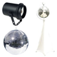 Eliminator 16-Inch Mirror Ball Pack with Stand and Pinspot