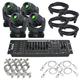 ADJ American DJ Inno Spot Pro 4-Pack with DMX Controller and Accessories