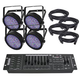 Chauvet Slimpar 64 RGB Wash Light 4-Pack with DMX Controller and Cables