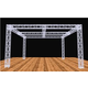 Global Truss 20 Foot x 20 Foot Booth Display System with Cross Beam