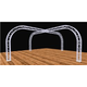 Global Truss 20 Ft x 20 Ft Display Cross Structure with Curved Edges