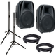 American Audio ELS15A Powered Speaker w/ Stands