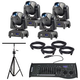 ADJ American DJ Focus Spot One LED Moving Head Light 4-Pack with Stand & DMX Controller