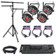 Chauvet FXPAR 9 4-Pack with Light Stand & DMX Controller