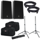 Electro-Voice ZLX15P Powered Speakers (2) with Gator Stands & Totes