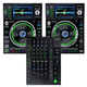 Denon SC5000 Prime Tabletop DJ Media Players w/ X1800 Prime Mixer