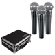 Shure SM58 Vocal Mic 3-Pack w/ Carrying Case