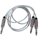 "5ft Audio Cable 1/4"" TS M to Dual 1/4"" TS M"