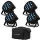 Blizzard LB Par Hex LED Light 4-Pack w/ Bag