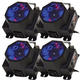 Solena Gobo Monster LED RGBW Gobo Projector 4-Pack