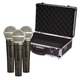 Shure SM58S Mic with On/Off Switch 3-Pack plus Carrying Case