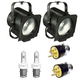 Altman 65Q Fresnel Light 2-Pack w/ Lamps & AC Plugs