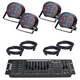 Solena Max Par 54 LED Wash Light 4-Pack with DMX Controller