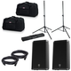 Electro-Voice ZLX12P Powered Speakers (2) with Gator Stands & Tote Bags
