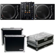 Pioneer DJM-450 DJ Mixer w/ (2) PLX-500-K Turntables & Cases